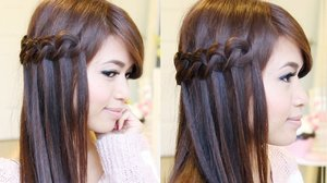 Knotted Loop Waterfall Braid Hairstyle | Hair Tutorial - Bebexo | YouTube