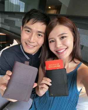 "We just got a new passport holder form Daniel Hechter for Valentines this year because we made a pact to travel at least twice a year from this year onwards 🥰 Instead of the usual ""book cover"" passport holder, just pull and tadahhhhh!!! Here comes the passport! Swipe right to watch the boomerang!! #danielhechter #jamesnmaybel"