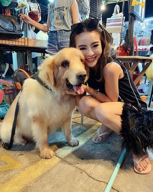 ❤️❤️❤️❤️ oversized golden retriever!!! ❤️❤️❤️❤️ . . . #goldenretriever #clozette #bangkok #travelblogger #travelgram #travelholic #wearetravelgirls