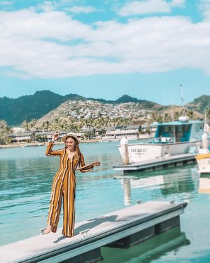 Weekend be like... . . 📌 KoKo Marina, East O'ahu, Hawaii . . Wearing stripes playsuit from @airspacetaiwan use promo code {{ SUNSHINE20 }} to get RM20 Off, valid till 31st Jan 2019 with min spending of RM150 💥💥💥 . #kellyxhawaii #kellytravels #kellyootd #wiw #instatravel #airspacemalaysia #as女神牆 #airspacetaiwan #clozette #instastyle
