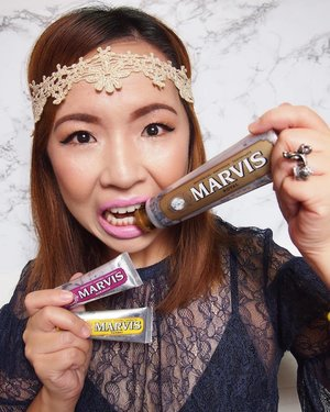 "This is how excited I am with @marvis_usa ""Wonders of The World"" limited edition toothpaste collection #notsponsored P/S: No Marvis toothpaste were harmed in the making of this photo 😬 . . . . . . #MarvisMY #kensapothecary #marvis #marvistoothpaste #streetlovebeautyblog #luxurybeauty #motd #lotd #bbloggers #beautyjunkie #beautyaddict #mybeautifulmess #makeuplovers #makeupobsessed #beautycommunity #instabeauty #instamakeup #clozette #sgigbeauty #sephoramy #sephoramy @kensapothecary"