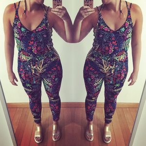 Colourful Jumpsuit! #print #doubletrouble #topshop