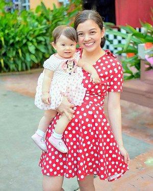 Polkadot mommy-baby ootd. Happy weekend everyone!☺️ #clozette #ootd #polkadotdress