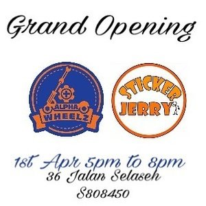 @stickerjerry & @alphawheelz grand opening this Saturday from 5pm to 8pm at 36 Jalan Selaseh s808450  Lai Lai Lai!! Support!  #sgblog #clozettesg #clozette #blogsg #bloggersg #sgblog #scooters #speedway3 #sw3 #dualtron #speedway #inokim #inokimlight #customisationsg #diysg