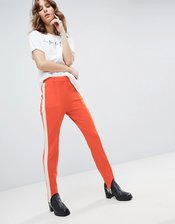 HUGO Stirrup Stretch Pants-Orange