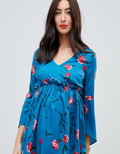 Mamalicious floral smock blouse-Multi