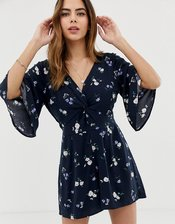 Abercrombie & Fitch romper in floral-Navy