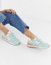 New Balance 574 V2 Pastel Mint Sneakers-Green