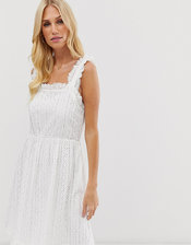 Y.A.S broderie cami dress-White