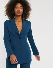 ASOS DESIGN pop suit blazer in teal-Green