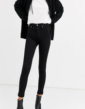 Dr Denim Tall Plenty mid rise skinny jean-Black